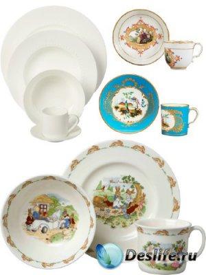 Посуда: Тарелка и чашка (подборка изображений)