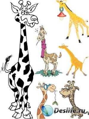 Жираф (животные в векторе)