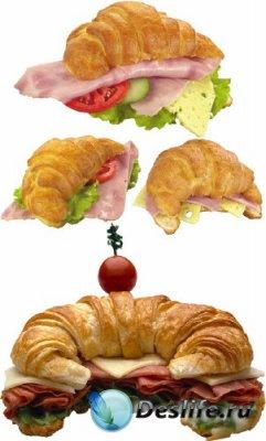 Бутерброд из круассана (подборка изображений)
