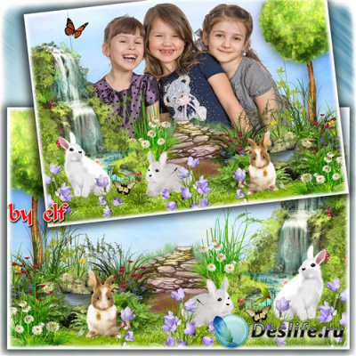 Детская рамка для фото – На лесной полянке