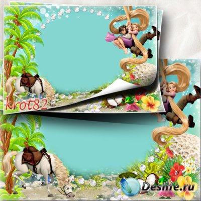 Летняя рамка для девочки с Рапунцель - Как прекрасно летом в зной