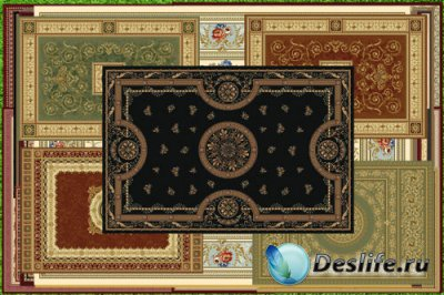 Клипарт Прямоугольные ковры для виртуального интерьера