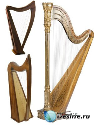 Струнные инструменты: Арфа (прозрачный фон)