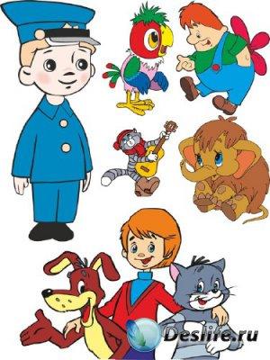 Подборка персонажей советских мультфильмов (векторные отрисовки) №2