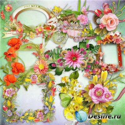 Цветочный декор - клипарт в png