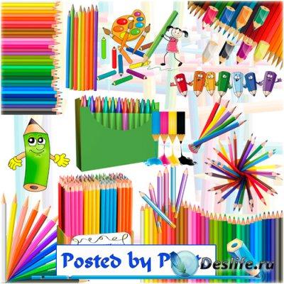Клипарт на прозрачном фоне - Цветные карандаши