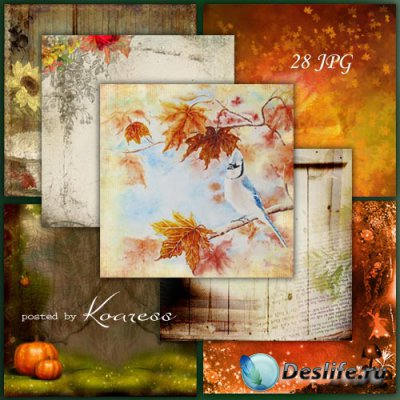 Подборка jpg фонов для дизайна - Краски осени