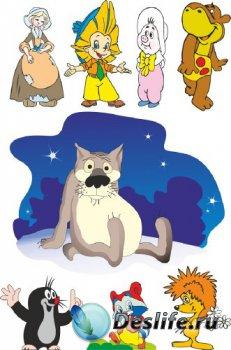 Подборка персонажей советских мультфильмов (векторные отрисовки) №3