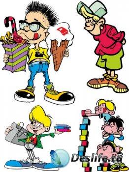 Подборка векторных детей (отрисовки)