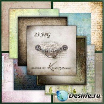 Растровые фоны для дизайна - Письма из прошлого