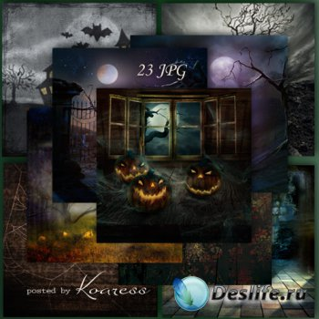 Подборка фонов для дизайна - Ночь на Хэллоуин