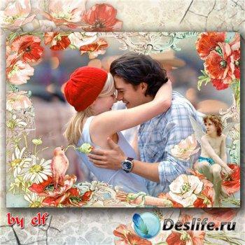 Романтическая рамка для фото - В любви и нежности