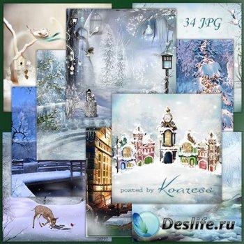 Фоны jpg для дизайна - Зимний сон