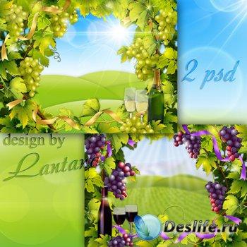 Многослойные фоны - Гроздьями гордится сад, изогнулись ветки