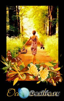 Осенние эскизы – сборник композиций с цветами и осенними листьями