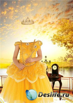 Шаблон для фотошопа девочкам – Принцесса