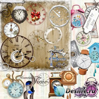 Клипарт в png - Часы наручные, с кукушкой, старинные и новогодние