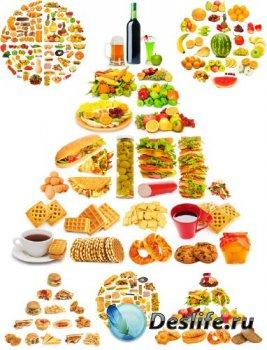 Пирамиды и круги из продуктов (подборка изображений)