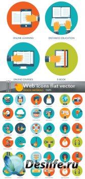 Плоские иконки для украшения одностраничных сайтов