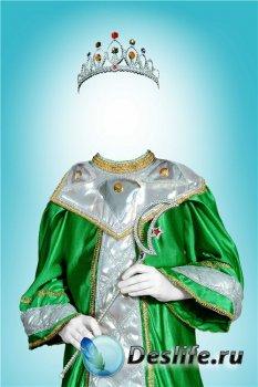 Фотошоп шаблон для девочек – Костюм королевы ночи