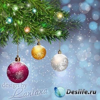 PSD исходник - Волшебный праздник новогодний 16