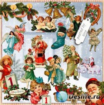 Клипарт новогодний - Винтажное рождество