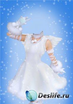 Шаблон для фотошопа девочкам – Костюм ангела