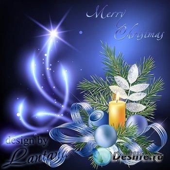 PSD исходник - Волшебный праздник новогодний 36