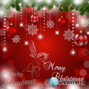 PSD исходник - Пускай рождественское чудо одарит всех своим теплом