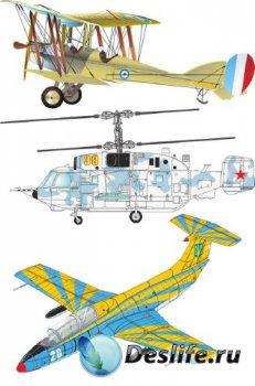 Боевая авиация (векторные отрисовки)