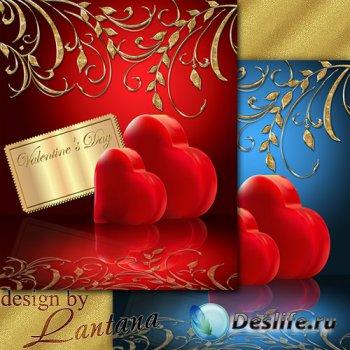 PSD исходник - Праздник цветов и сердец