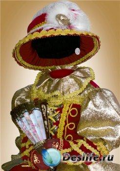Фотошоп костюм для девочек – Красно-золотое платье