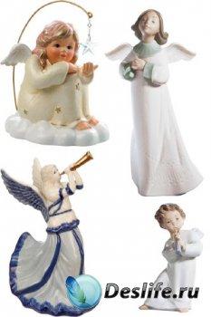 Ангелочки статуэтки и куклы (прозрачный фон)