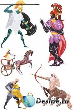Персонажи и герои древней Греции (подборка векторных отрисовок)