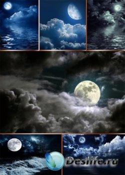 Ночь, ночное небо и луна (подборка изображений)