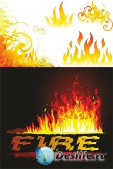 Огонь и пламя (векторная подборка)