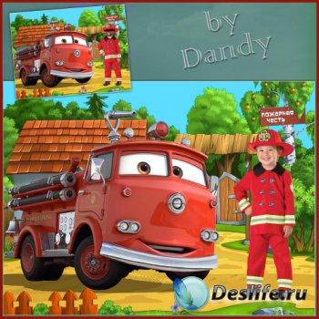 Костюм для мальчика - Маленький пожарник на работе
