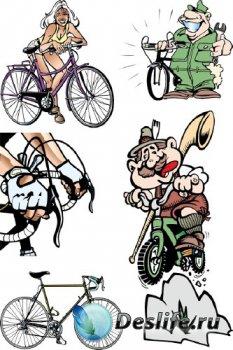 Велосипед, велосипедный спорт в векторе (подборка)