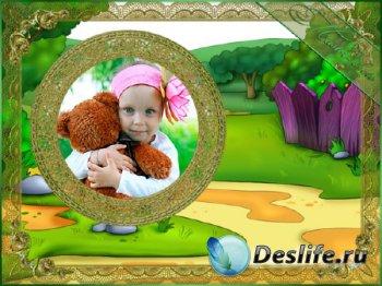 Детская рамка для фотошопа - Дорога в Простоквашино