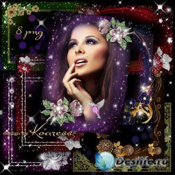 Сборник png рамок для фото с ювелирными украшениями - Бриллианты к праздник ...
