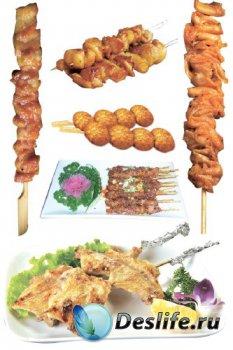 Блюда приготовленные на мангале (Восточная кухня), прозрачный фон