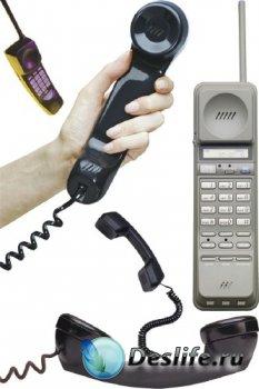 Телефонная трубка (прозрачный фон)