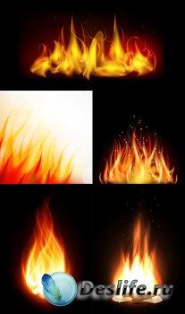 Векторный клипарт - Огонь 3