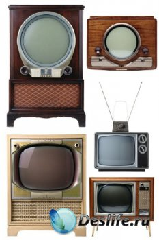 Телевизор (ретро), прозрачный фон