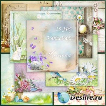 Подборка растровых фонов для дизайна - Пасхальное Воскресение