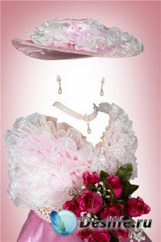 Костюм для фотошопа девочкам - Леди с розами