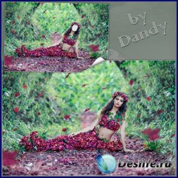 Костюм для фотошопа  - Очаровательная девушка весна