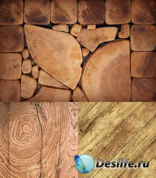 Растровый клипарт - Деревянные фоны 14