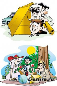 Пикник, отдых, туризм (вектор)
