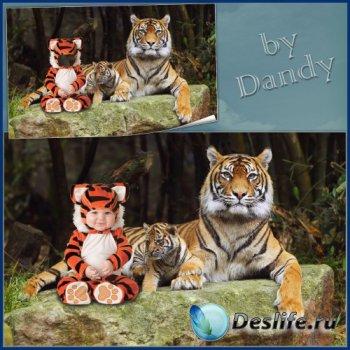 Костюм для мальчика - Маленький тигренок с братишкой